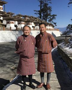Namgyel Dorji and Tashi Wangdi guides in Bhutan